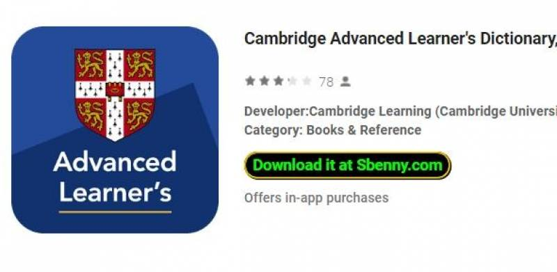 Cambridge Advanced Learner's Dictionary, 4th ed. + MOD