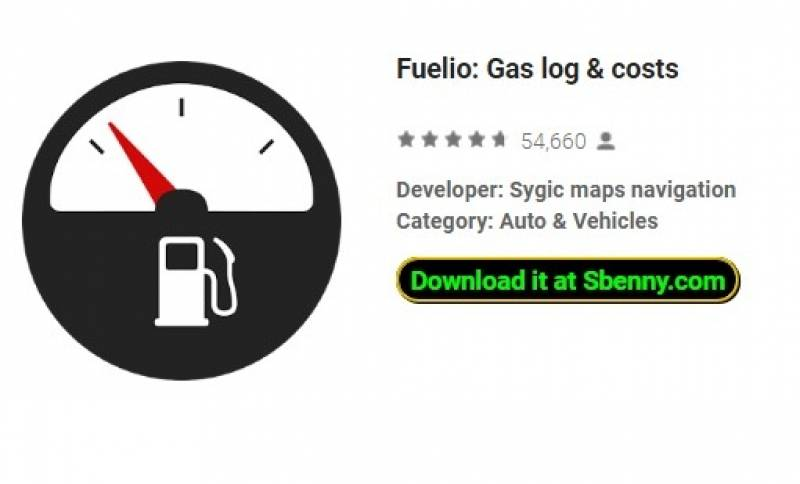 Fuelio: Gas log & amp; frais
