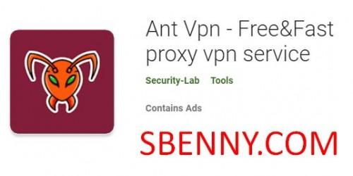 Ant Vpn - Service VPN gratuit et rapide de proxy + MOD