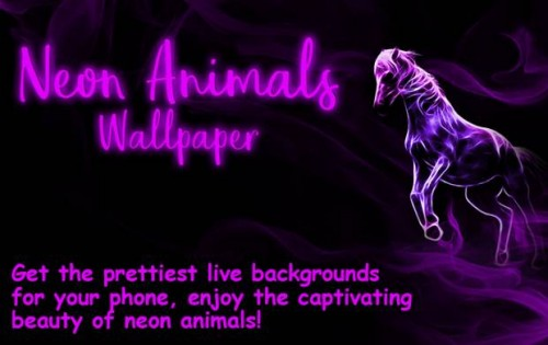 Neon Animals Wallpaper Moving Backgrounds + MOD