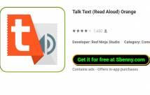Talk Text (Read Aloud) Orange + MOD