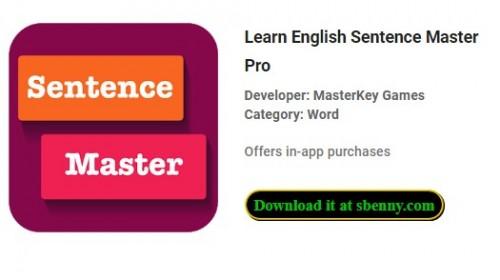 Aprender inglés Sentence Master Pro