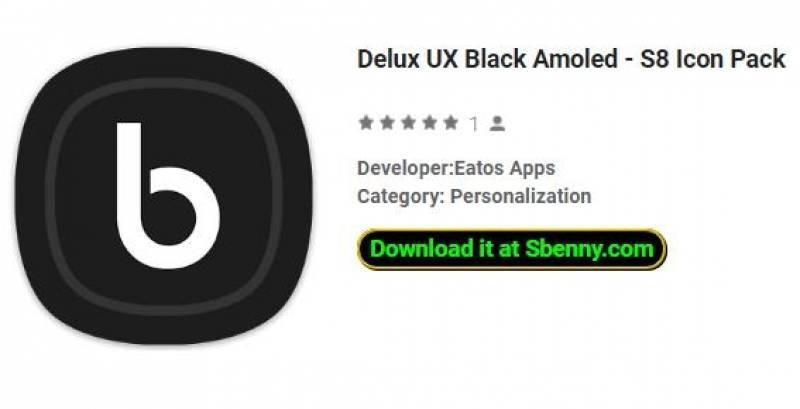 Delux UX Black Amoled - Pacote de ícones S8