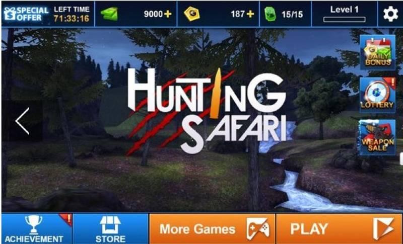 Caça Safari 3D + MOD