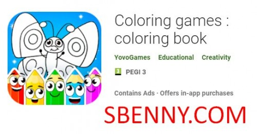 Coloring games : coloring book + MOD