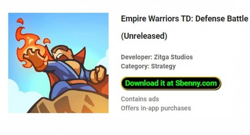 Empire Warriors TD Unlimited Money MOD APK Free Dowload
