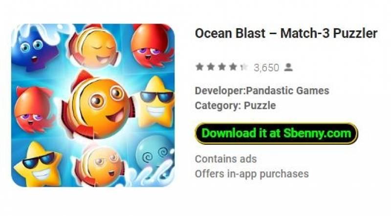 Ocean Blast - Quebra-cabeças Match-3 + MOD