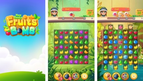 Nouvelle bombe de fruits savoureux: Puzzle World + MOD