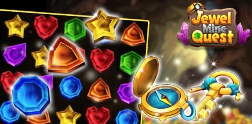 Jewel Mine Quest: Rompecabezas Match-3 + MOD