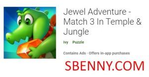 Jewel Adventure - Match 3 Fit-Temple & amp; Ġungla + MOD