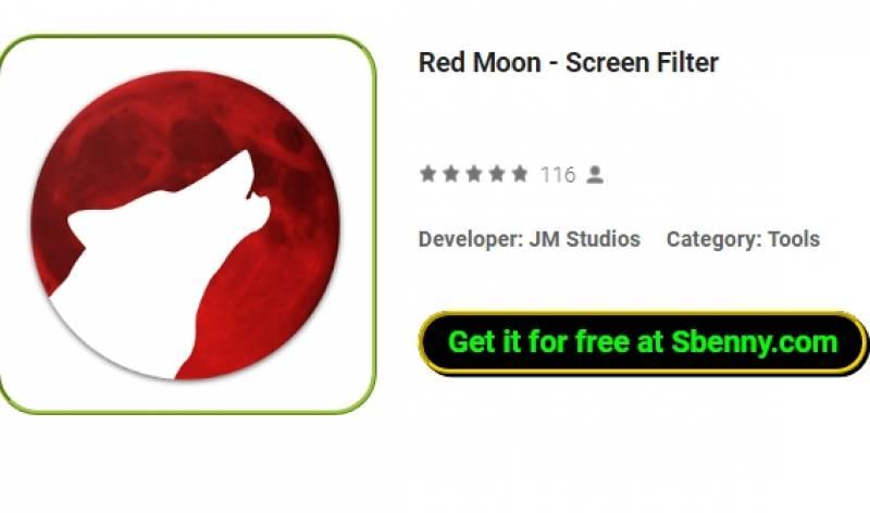 Красная Луна - Фильтр экрана